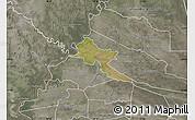 Satellite Map of Pilar, semi-desaturated