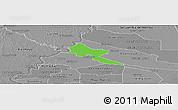 Political Panoramic Map of Pilar, desaturated