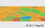 Political Panoramic Map of Pilar