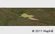 Satellite Panoramic Map of Pilar, darken