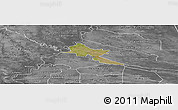 Satellite Panoramic Map of Pilar, desaturated