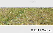 Satellite Panoramic Map of Pilar