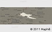 Shaded Relief Panoramic Map of Pilar, darken