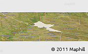 Shaded Relief Panoramic Map of Pilar, satellite outside