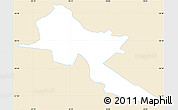 Classic Style Simple Map of Pilar, single color outside