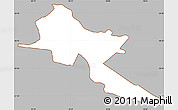 Gray Simple Map of Pilar, cropped outside