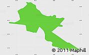 Political Simple Map of Pilar, single color outside