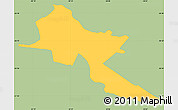 Savanna Style Simple Map of Pilar, single color outside