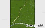 Physical 3D Map of Rio Parana, darken