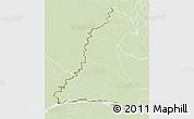 Physical 3D Map of Rio Parana, lighten