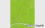 Physical 3D Map of Rio Parana