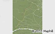 Physical 3D Map of Rio Parana, semi-desaturated