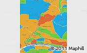 Political 3D Map of Rio Parana