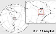 Blank Location Map of Rio Parana