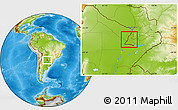 Physical Location Map of Rio Parana