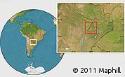 Satellite Location Map of Rio Parana
