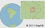 Savanna Style Location Map of Rio Parana