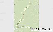 Physical Map of Rio Parana, lighten