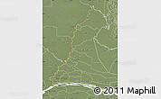 Physical Map of Rio Parana, semi-desaturated