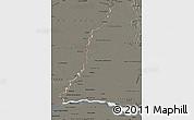 Shaded Relief Map of Rio Parana, darken