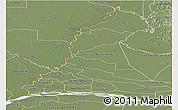 Physical Panoramic Map of Rio Parana, semi-desaturated