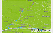 Political Panoramic Map of Rio Parana, physical outside