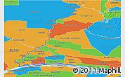 Political Panoramic Map of Rio Parana