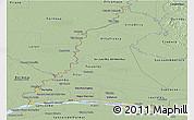 Savanna Style Panoramic Map of Rio Parana