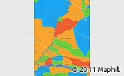 Political Simple Map of Rio Parana