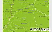 Physical Map of San Juan Bta. del Neembuc