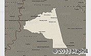 Shaded Relief Map of San Juan Bta. del Neembuc, darken