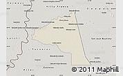 Shaded Relief Map of San Juan Bta. del Neembuc, semi-desaturated