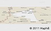 Classic Style Panoramic Map of San Juan Bta. del Neembuc
