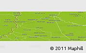 Physical Panoramic Map of San Juan Bta. del Neembuc