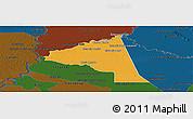 Political Panoramic Map of San Juan Bta. del Neembuc, darken
