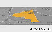 Political Panoramic Map of San Juan Bta. del Neembuc, desaturated