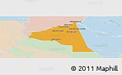 Political Panoramic Map of San Juan Bta. del Neembuc, lighten