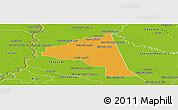 Political Panoramic Map of San Juan Bta. del Neembuc, physical outside