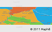 Political Panoramic Map of San Juan Bta. del Neembuc