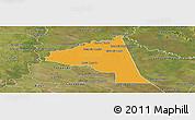 Political Panoramic Map of San Juan Bta. del Neembuc, satellite outside