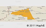 Political Panoramic Map of San Juan Bta. del Neembuc, shaded relief outside