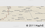 Shaded Relief Panoramic Map of San Juan Bta. del Neembuc