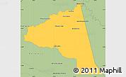 Savanna Style Simple Map of San Juan Bta. del Neembuc