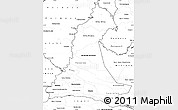 Blank Simple Map of Neembucu