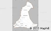 Gray Simple Map of Neembucu, cropped outside