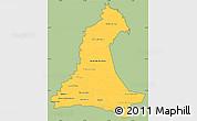 Savanna Style Simple Map of Neembucu, cropped outside