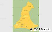 Savanna Style Simple Map of Neembucu, single color outside