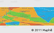 Political Panoramic Map of Tacuaras