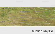 Satellite Panoramic Map of Tacuaras