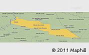 Savanna Style Panoramic Map of Tacuaras